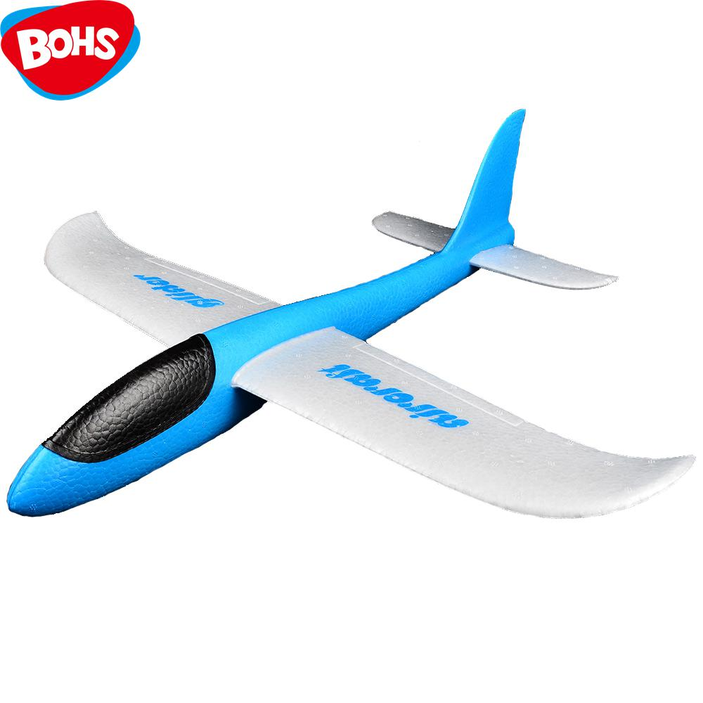 BOHS Hand Launch Throwing Glider Aircraft Inertial Foam EVA Airplane Toy Plane Model outdoor fun sports