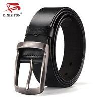 DINISITON Top Brand Cow Genuine Leather Belts For Men Newest Arrival Black Hot Designer Jeans Belt
