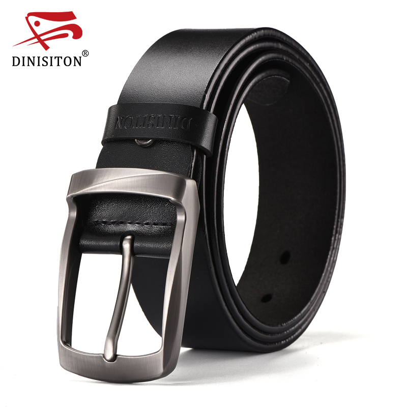 DINISITON Top Brand Cow Genuine Leather Belts For Men Newest Arrival Black Hot Designer Jeans Belt