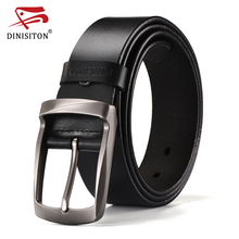 DINISITON Top Brand Cow Genuine Leather Belts For Men Newest Arrival Black Hot Designer Jeans Belt For Male Original Brand XFRB