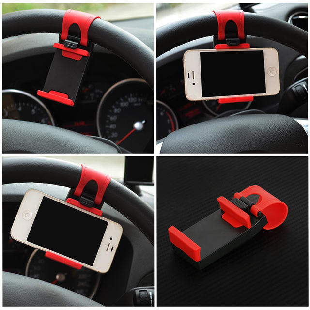 Universal Steering Wheel Car Phone Holder