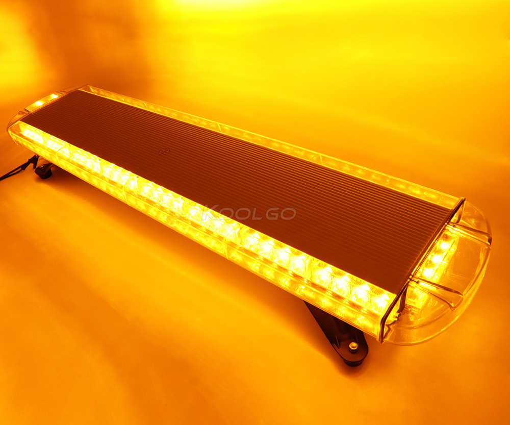 "KOOLGO Amber 72 LED Light Bar Car Truck Towing Strobe Flash Traffic Emergency Warning LightBar Beacon 12 24V Yellow 38""-in Signal Lamp from Automobiles & Motorcycles    2"