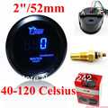 "2"" 52mm Digital Blue-LED Electronic Water Temp Temperature Gauge With Sensor"