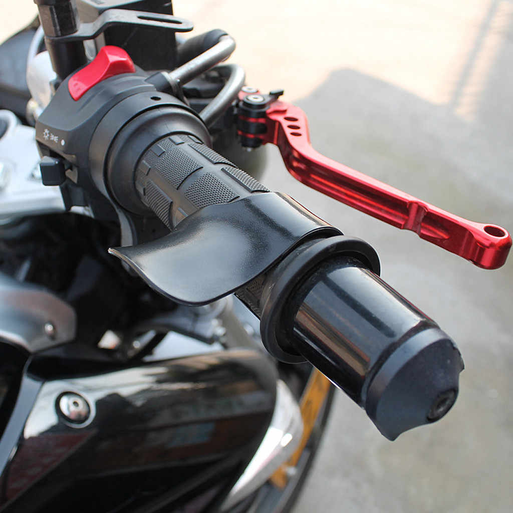 Universal motocicleta E-Bike Grip acelerador ayuda fibra de carbono Moto Control de muñeca Cramp apoyos accesorios de motocicleta