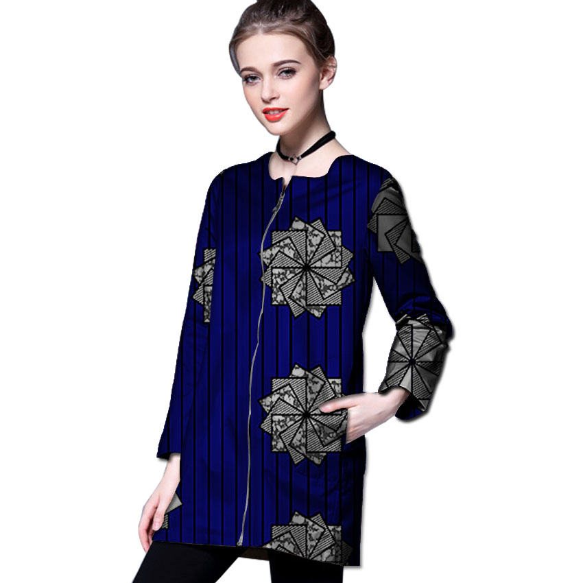 181d0f772df96 African print long trench casual design women's outfits outwear African  coat dashiki clothes o neck overcoat-in Trench from Women's Clothing &  Accessories ...