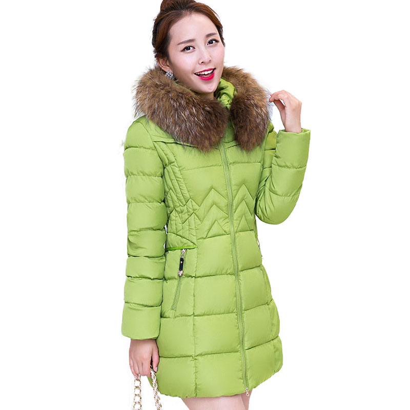 Winter Jackets Women 2017 Brand Clothing Parka Woman Thick Warm Down Cotton Padded Coat Hooded Fur Hood Quilted Jacket Femme new men winter jacket fashion brand clothing cotton padded down parka male thick warm comfortable outerwear coat hood detachable