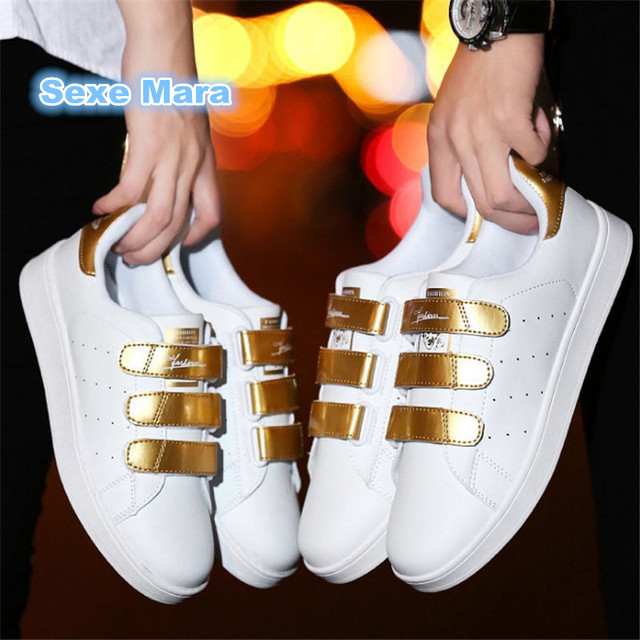Women Flat fashion casual shoes couple Lovers white shoes woman leather Unisex wild shoes trainer zapatos mujer zapatos hombre