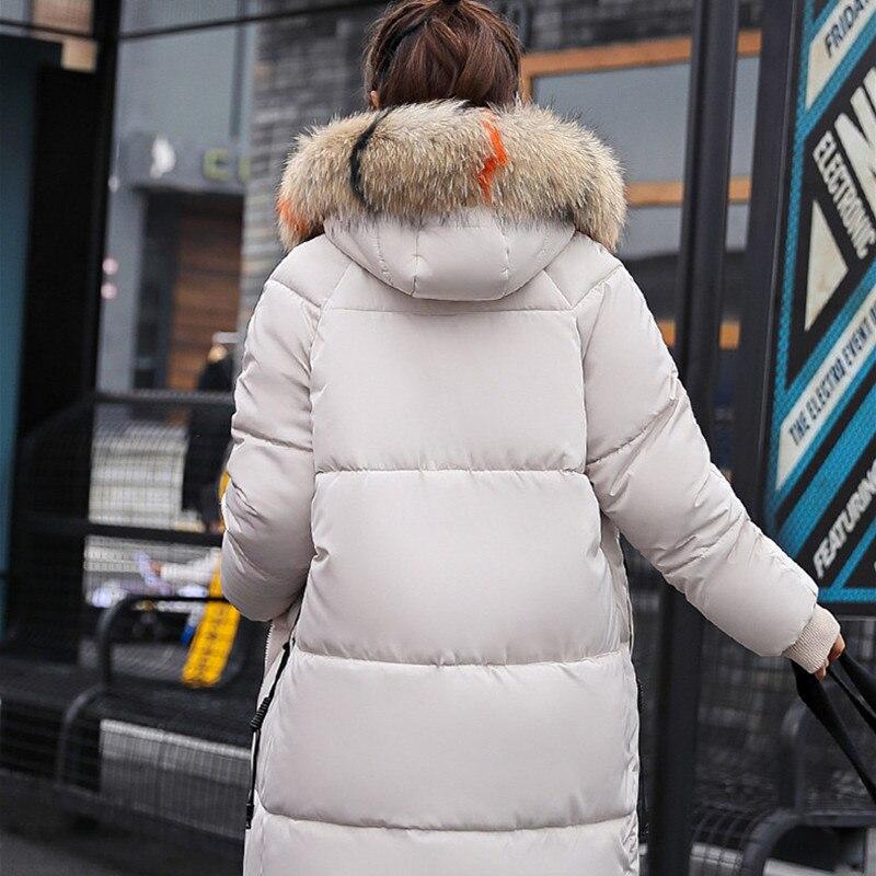 Grand Mode Popualr Femelle De Qualité 2018 Et Red Rembourré Coton Nouvelle Taille deep Haute Manteau Épais D'hiver Fourrure Long Vêtements red green black White Grande grey qUxZwv7Ua0