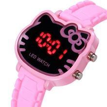 Детские светодиодные спортивные часы детские для девочек мультяшный