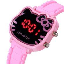 Zegarek dla dzieci sport Led zegarki dla dzieci dziewczyny Cartoon Dial Led cyfrowy zegar zegarki na rękę z paskiem dla chłopców i dziewcząt Reloj Nino