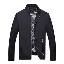 Autumn Fashion Men Jacket Simple Stand Collar Casual Outwear Coat Wild Classical Father Clothes Solid Color Classical Jacket Men