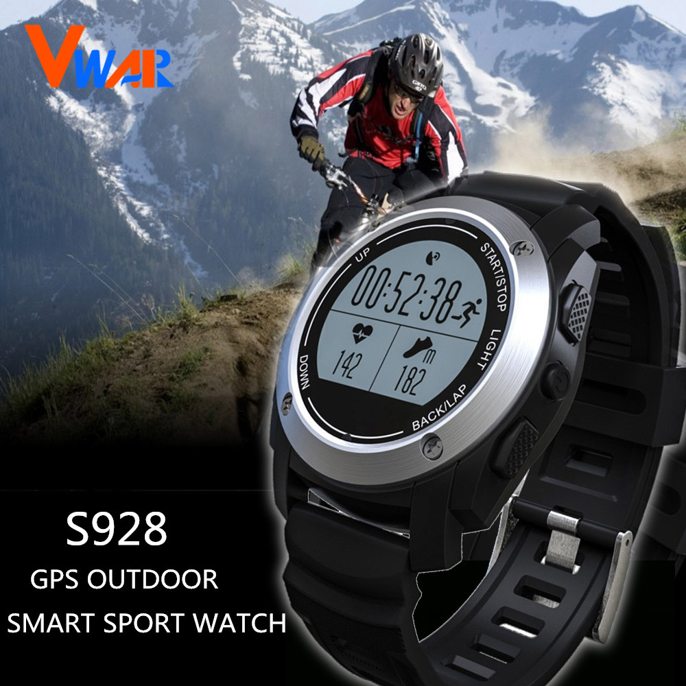 ФОТО S928 Sports Smartwatch Waterproof Smart Watch Outdoor GPS Watch Real-time Heart Rate Monitor Smart Wristband for Android IOS