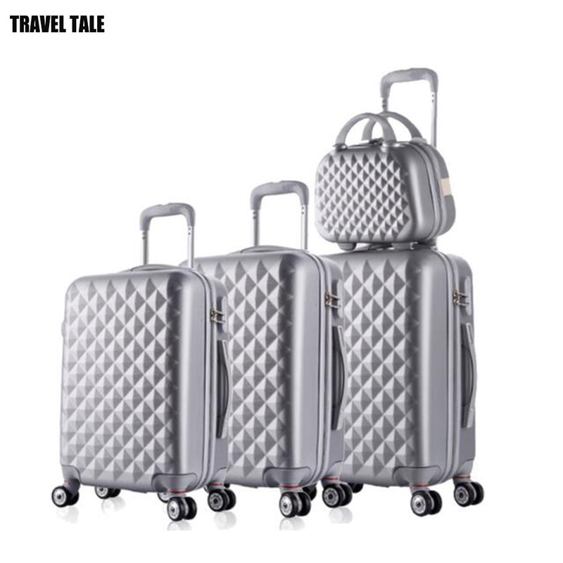 REISE TALE spinner ABS reise koffer set hardside trolley gepäck sets 3 stücke freies verschiffen-in Gepäck-Sets aus Gepäck & Taschen bei  Gruppe 2