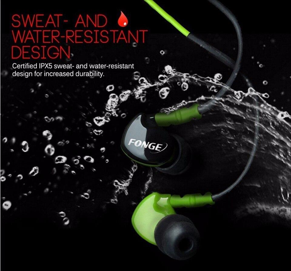 Sport Headphones Waterproof Earphones Running Sweatproof Stereo Bass Music Headset With Mic For All Mobile Phone new arrival