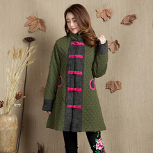 2017 Sale Womens Winter Jackets And Coats A Winter Coat Jacket Collar Folk Style Cotton Printed In The Long Padded Dress Female