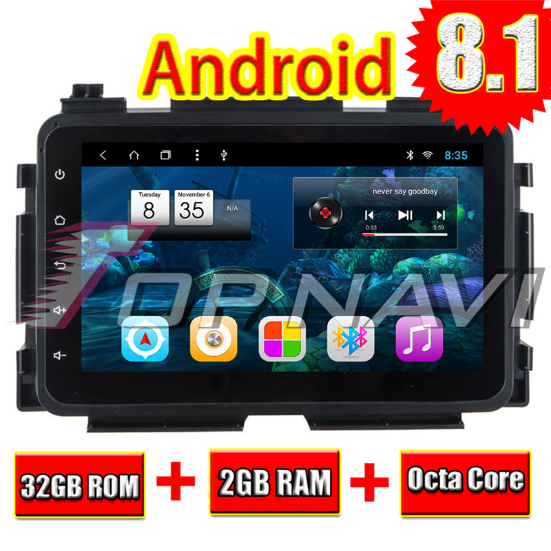 Vehicle GPS Navigation for Honda XRV 2015 8'' Topnavi Android 8.1 Head Unit  High Resolution Double din Car Player NO DVD Video