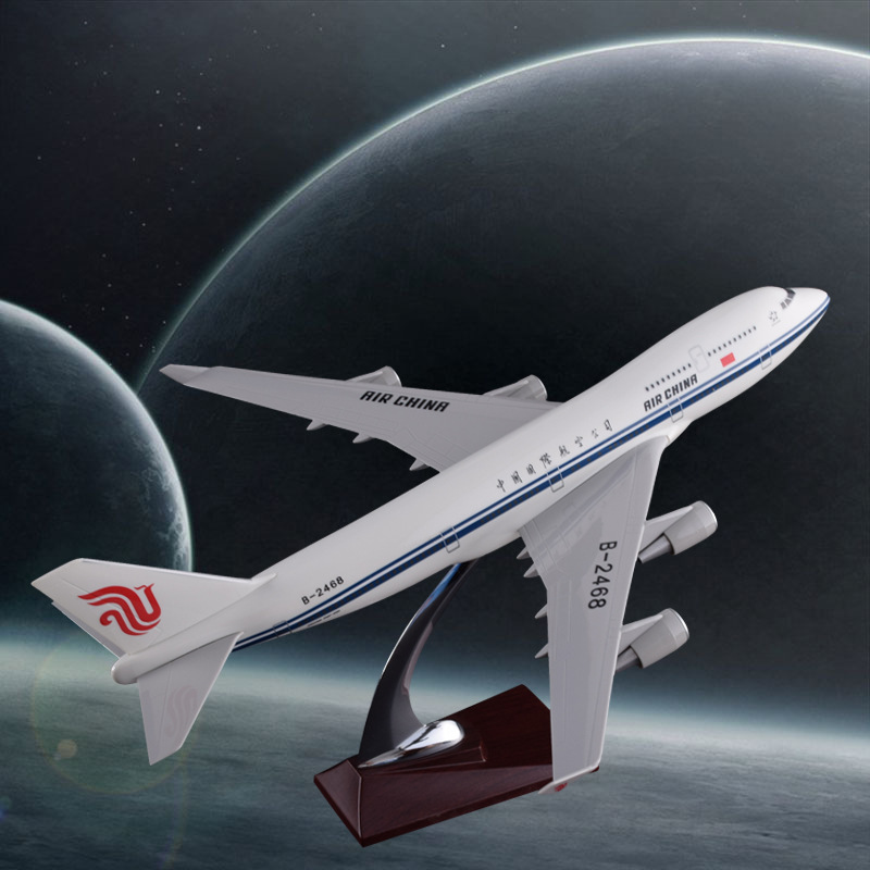 47cm B747-400 Air China Plane Model Boeing 747-400 Airplane Airways Model China Airlines Resin Airbus Crafts Aircraft Model Toys aeroclassics a330 200 vh eba 1 400 jetstar commercial jetliners plane model hobby
