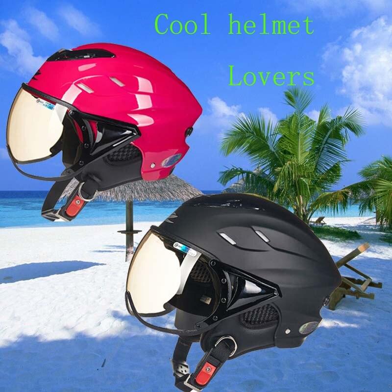 2017 Cool lover ZEUS half face motorcycle helmet electric bike scooter motorbike helmets ZS-125B for men women ,black rose red