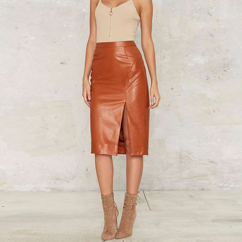 Compare Prices on Orange Leather Skirt- Online Shopping/Buy Low ...