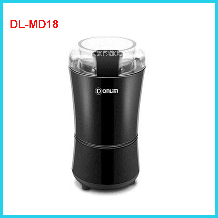DL-MD18 220V/50 Hz Professional Commercial Household Coffee Grinder High Quality Electric Coffee Machine Advanced Grinding 50g bear 220 v hand held electric blender multifunctional household grinding meat mincing juicer machine