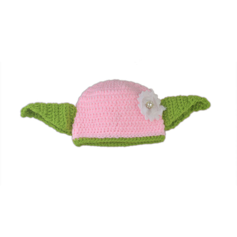 Keenomommy Star Wars inspirado Rosa Yoda ganchillo sombrero y ...