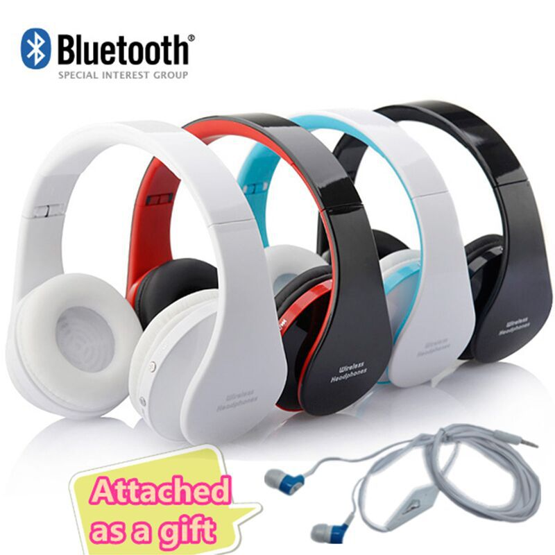NEW Wireless Bluetooth Headphones Earphone Earbuds Stereo Foldable Handsfree Headset with Mic Microphone for iPhone Galaxy HTC universal h3 wireless bluetooth heaphone stereo headset earphone handsfree with microphone for samsung lg htc lenovo iphone asus