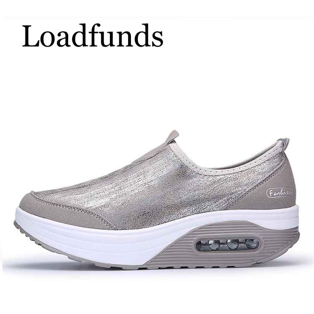 d07cf61446 Loadfunds Spring New 35-41 Women Platform Shoes Shaking Casual Loafers  Shoes Air Sole Comfortable