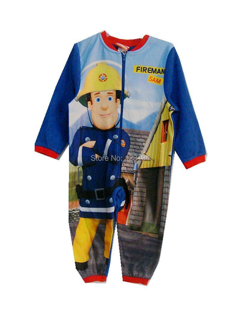 2018 new arrival fireman fleece robe for winter boy sleepwear FLEECE pajama fireman baby boy retail free shipping ...