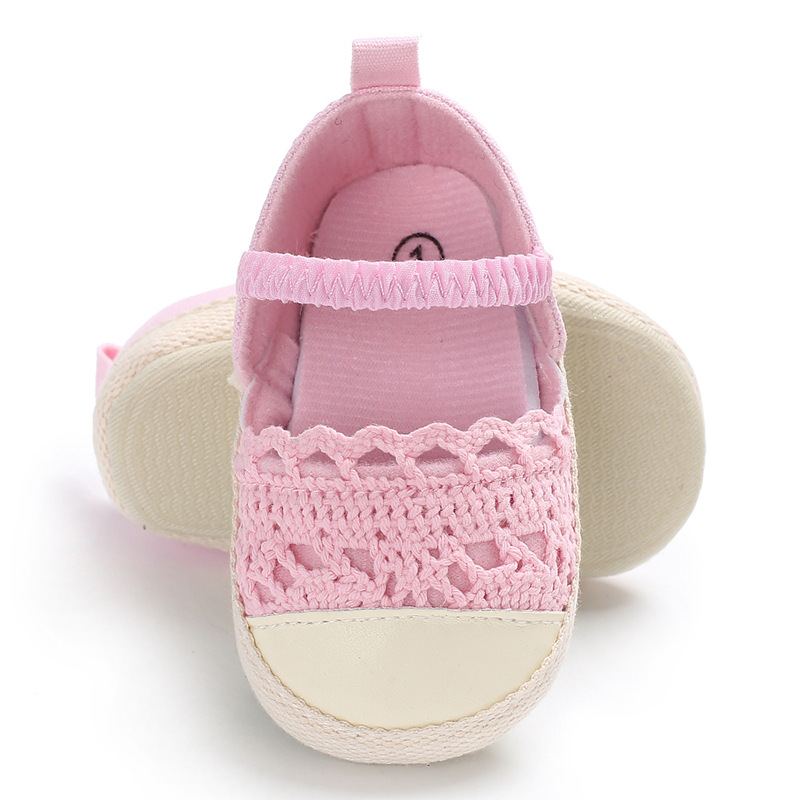 Raise Young Spring Summer Infant Baby Girl First Walkers Breathable Hollow Newborn Girl Shoes Non-slip Toddler Footwear 0-18M