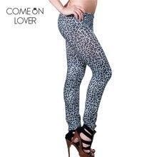 TE2145 Comeonlover опт и розница, сексуальные леопардовые леггинсы,, высококачественные Леггинсы для женщин, новые модные женские леггинсы