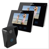 9 Color LCD Monitor Wireless Door Phone Doorbell Intercom With Touch Key Camera (1V2)