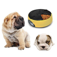 6 Meal Automatic Pet Feeder with Programmable Timer Dog Cat Water Tray Bowl Blue