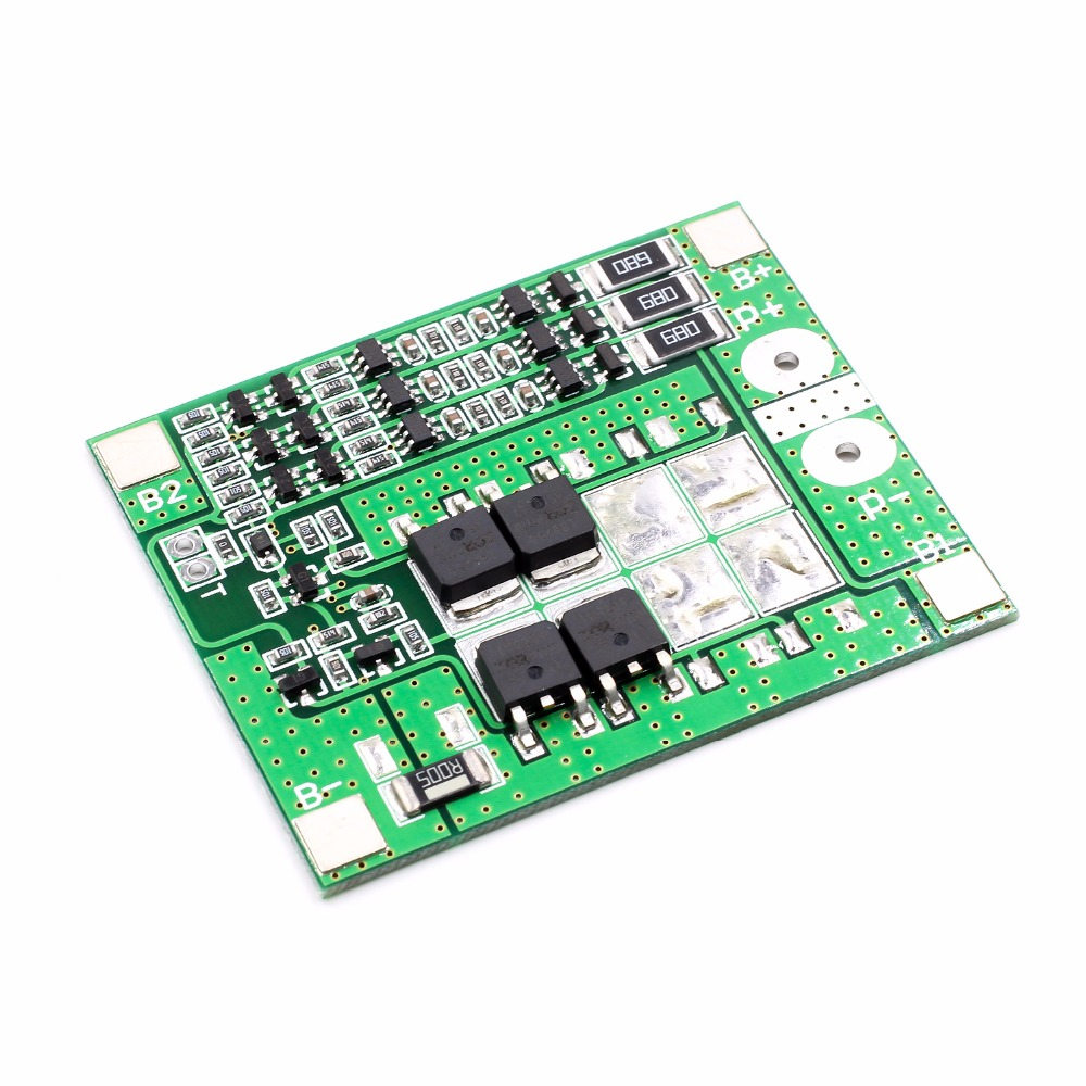 3S 11.1V 12V 18650 Lithium Battery Protection Board 12.6V 15A Over-Current Overcharge Protection with Equilibrium