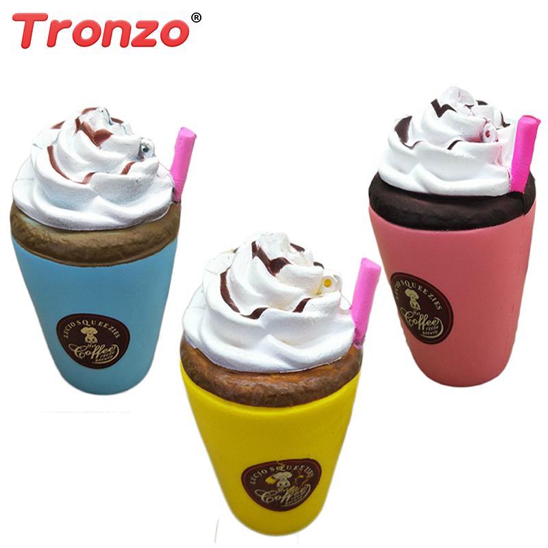 Tronzo Scented Squishy Toys Squeeze Ice Coffee Cup Elastic Stress Relief Squishy Slow Rising Novelty Toy Gift For Kid Wholesale