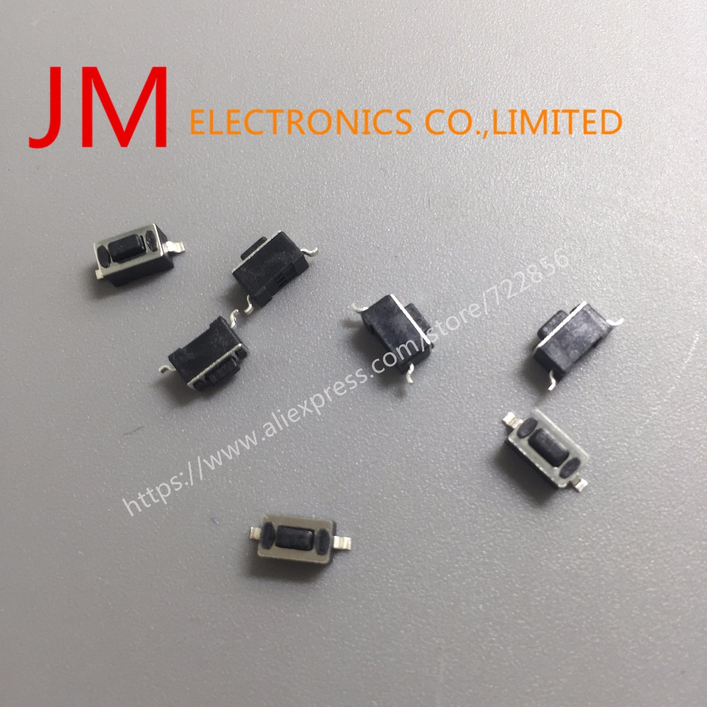 50 Pcs Momentary Tact Tactile Push Button Switch SMD SMT PCB 3X6X4.3mm promotion 50pcs lot smt 3x6x2 5mm 2pin tactile tact push button micro switch self reset momentary