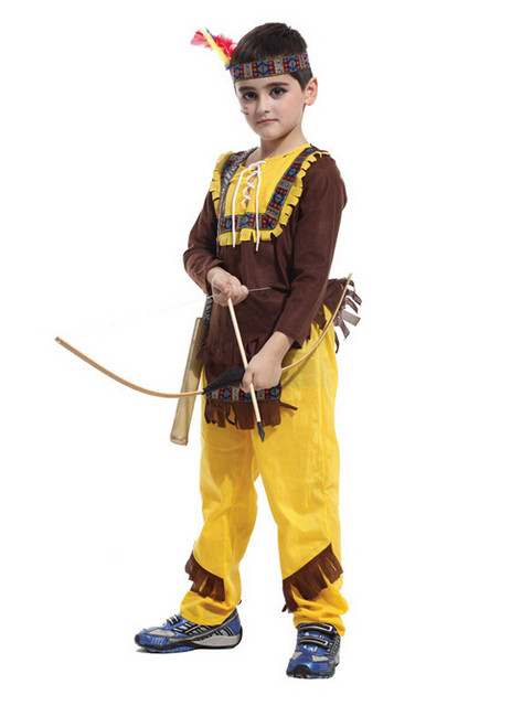 Free shipping Child Native American Indian Princess Dress Costume Boy Soldiers Warrior Fancy Dress  sc 1 st  Aliexpress & Online Shop Free shipping Child Native American Indian Princess ...