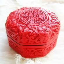 Exquisite Chinese Flower Red Cinnabar Lacquer Flowers Auspicious Jewelry Box exquisite chinese flower red cinnabar lacquer beautiful flower auspicious jewelry box