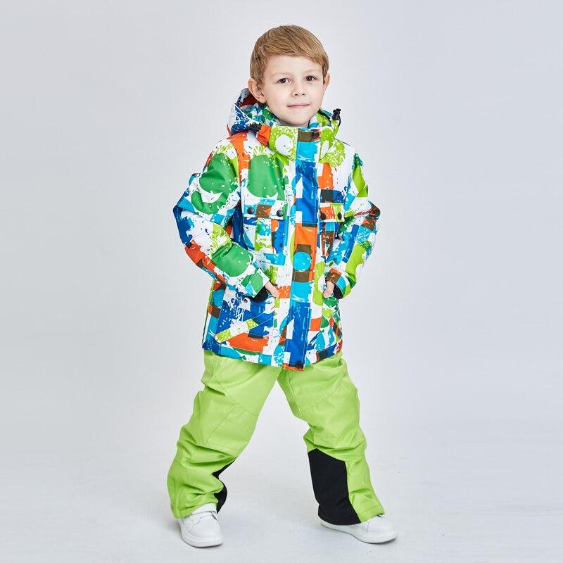Image 2 - High Quality Kids Ski Suit Super Warm Boys Girls Ski Jacket Pants  Set Waterproof Snowboarding Jacket Winter Children Skiing SuitSkiing  Jackets