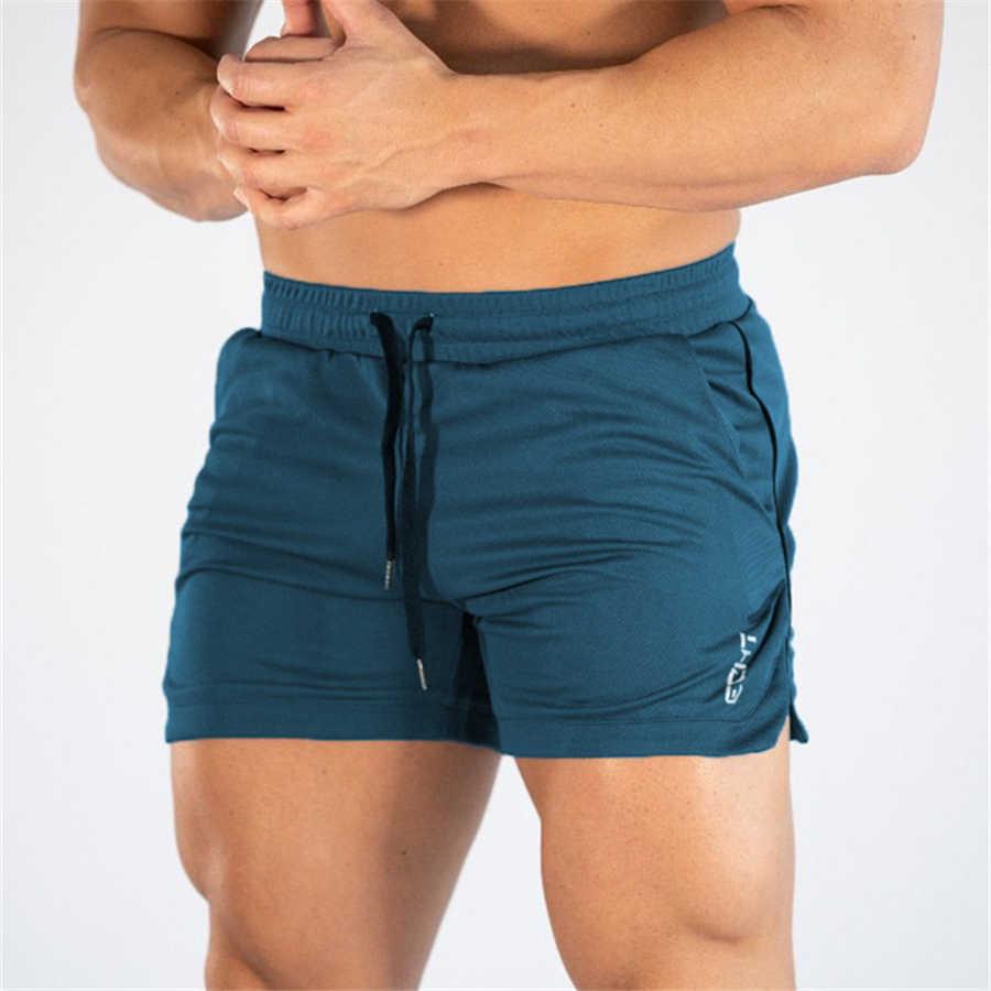 2019 pantalones cortos deportivos para hombre, para verano, para entrenamiento, para hombre, de malla transpirable, de secado rápido, para correr, pantalones cortos de playa