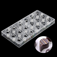 Crescent Comma Magnet Magnetic Plastic Transfer Mold Polycarbonate PC Chocolate Mold Baking Mould DIY Handmade Chocolates