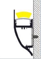 Image 2 - Светодиодный алюминиевый профиль длиной 10 1 м, номер изделия, Светодиодный настенный профиль для крепления на стене, подходит для светодиодных лент шириной до 12 мм, светодиодный профиль