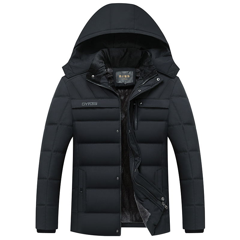 drop shipping Winter Jacket Men -20 Degree Thicken Warm Parkas Hooded Coat Fleece Man's Jackets Outwear Jaqueta Masculina LBZ31 5