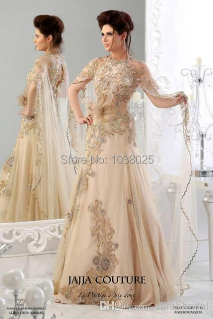 Luxury Champagne High Neck Design 2013 Backless Jajja Couture Dress ...