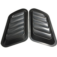 MAYITR 1 Pair Car Styling Air Flow Vent Fender Intake Hood Scoop Turbo Bonnet Vent Cover
