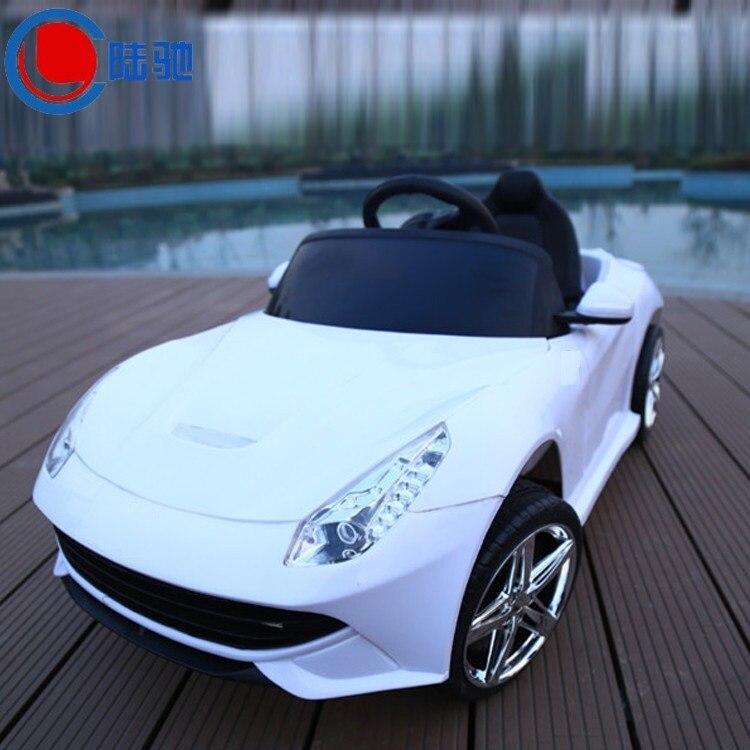 Livraison gratuite enfants voiture électrique peut s'asseoir quatre roues motrices double poussette bébé enfant voiture avec télécommande tour sur voiture jouet - 3