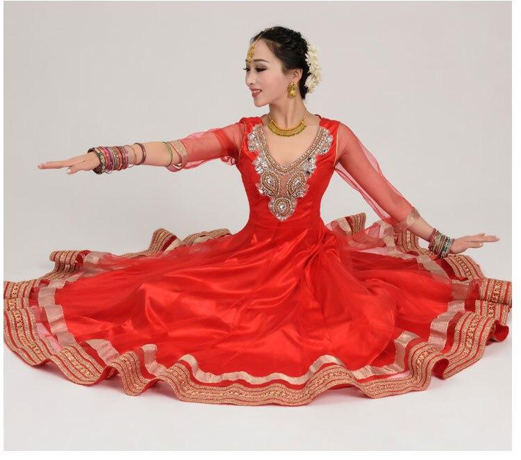 Inde Anna Indien de danse danse performance Sari voile robe robe top jupe pantalon pantalon costumes costume vêtements porter des vêtements