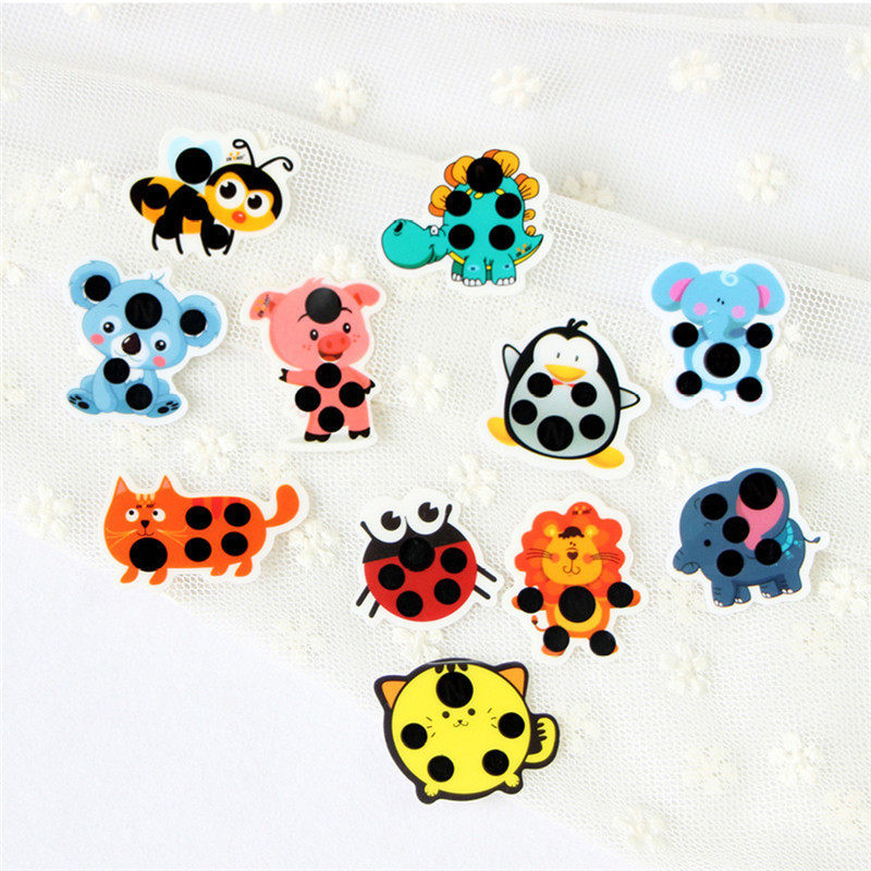 15pcs set Cartoon Sticker LCD Forehead Thermometers Body Fever Thermometers Head Bands Children Safety Baby Care