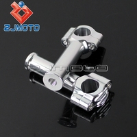 Silver Motorcycle 5.5 Handlebar Risers 1 Bar Risers Bars Mount Clamp For Harley Bobber Chopper