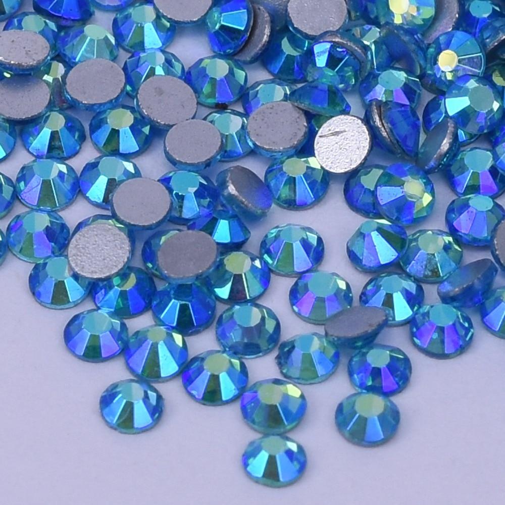 Aquamarine AB flat back nail art deco non hotfix rhinestones for Rhinestone & Decoration ss4 ,ss6 ,ss8, ss10
