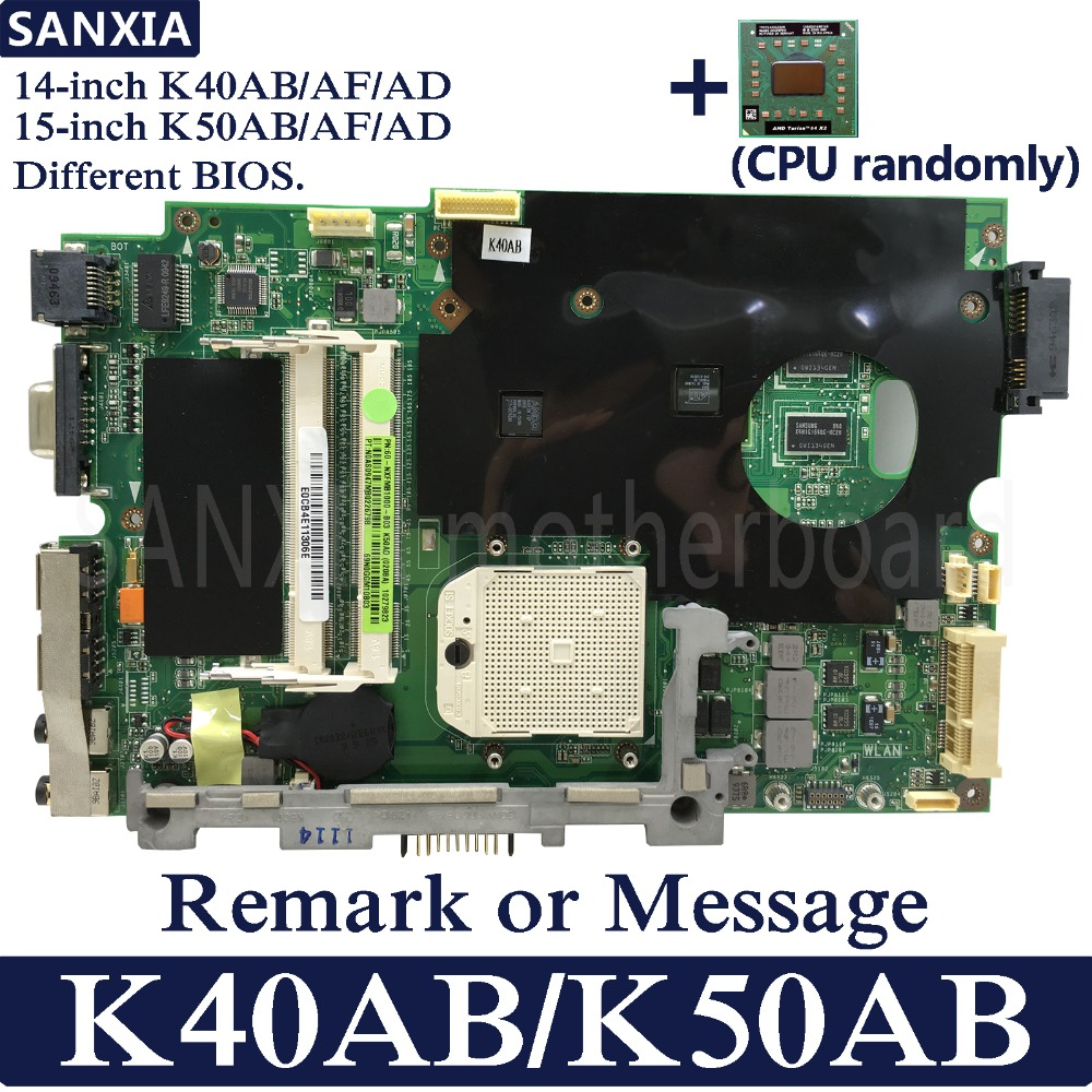 KEFU Laptop Motherboard For ASUS K50AB K40AB K50AD K40AD K50AF K40AF 100% Test Original Mainboard With Free CPU(CPU Randomly)